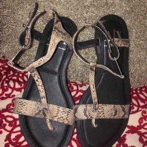 Armani exchange leather sandals